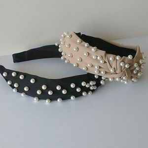 Head band with pearls